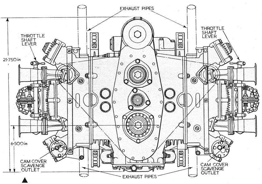 Bugatti Motor diagram
