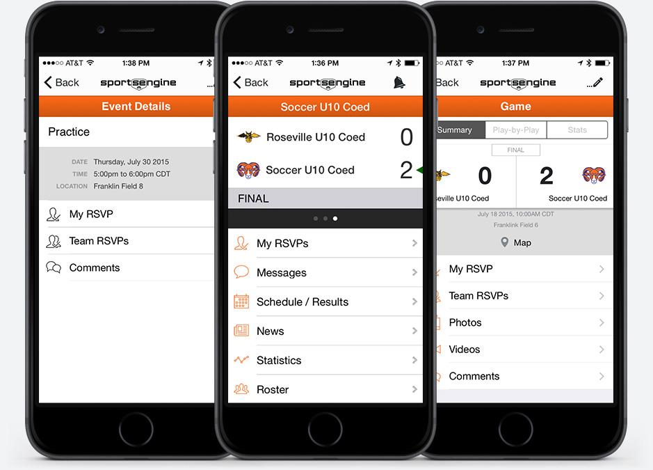 Sports Team  League Management Mobile App