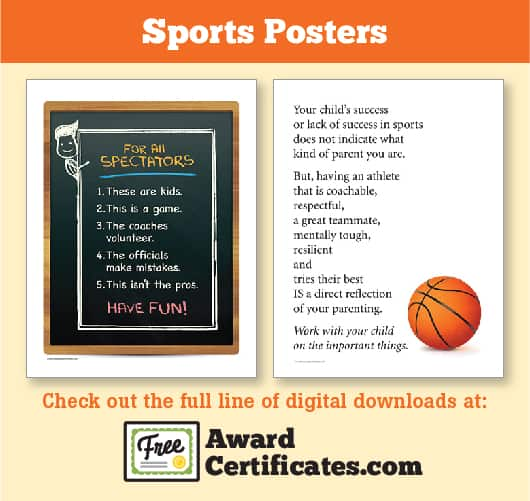 Sports Posters at Free Award Certificates image - Sports Feel Good - free award certificates