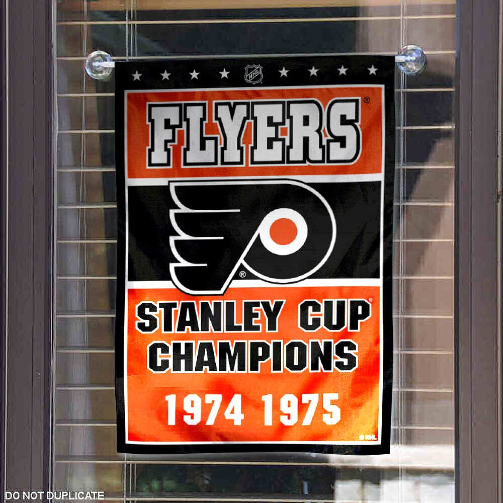 Philadelphia Flyers 2 Time Stanley Cup Champions Garden Flag and