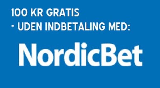 Nordicbet 100 kr. Gratis Bonuskode