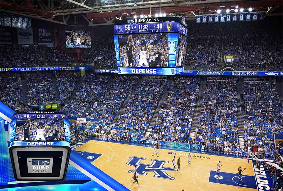 UK\u0027s Rupp Arena Upgrades Video With Daktronics