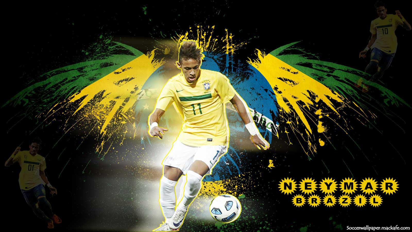 Messi Wallpaper 2014 3d Neymar Fond 233 Cran Wallpaper