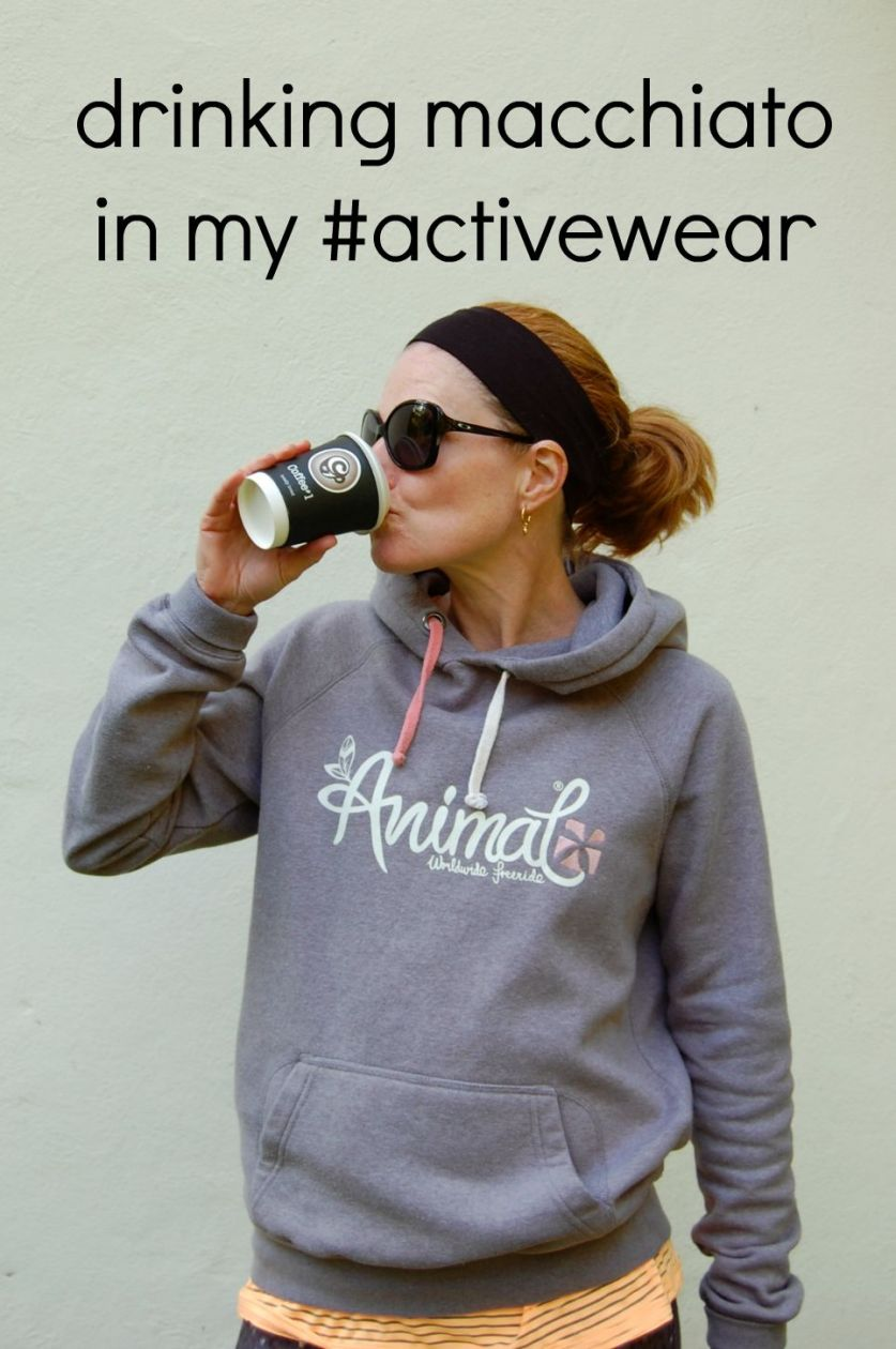 Drinking macchiato in my #activewear