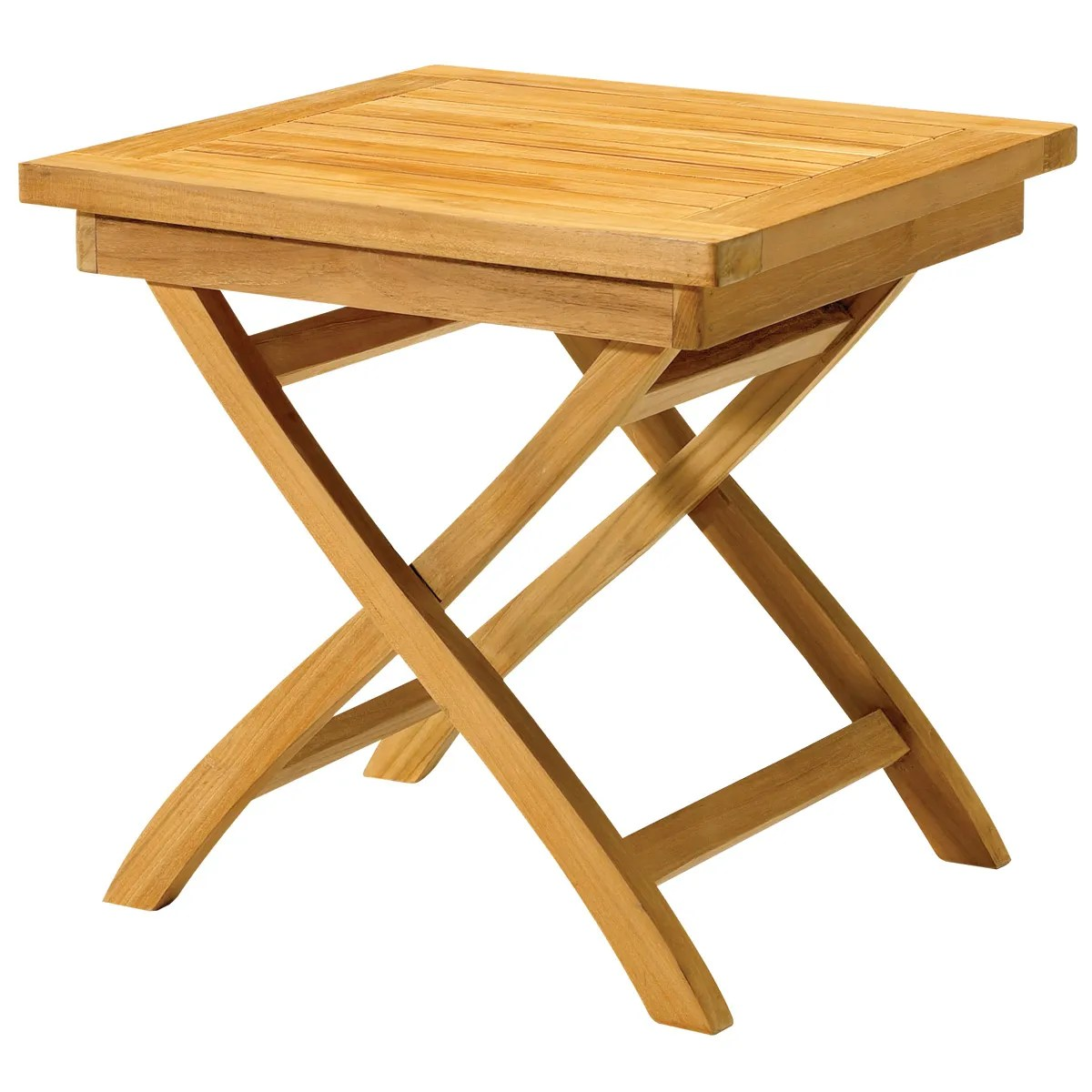 Outdoor Teak Folding Side Table From Sportys Preferred