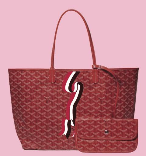 monogrammed goyard bag