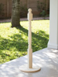 DIY: Standing Stocking Holder | Spray Paint & Chardonnay
