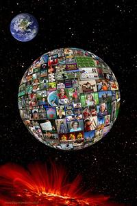 people globe