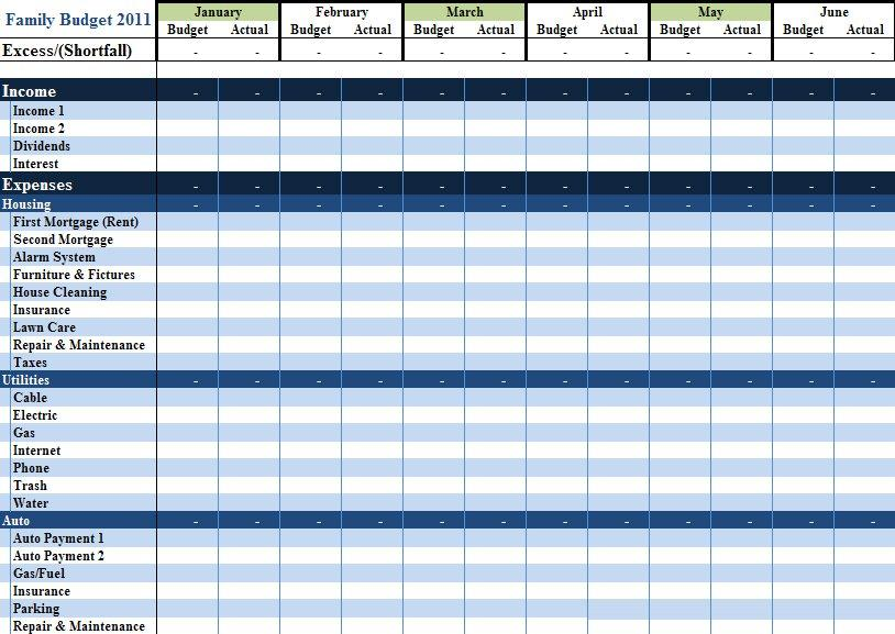 Excel template personal budget for Personnel budget template