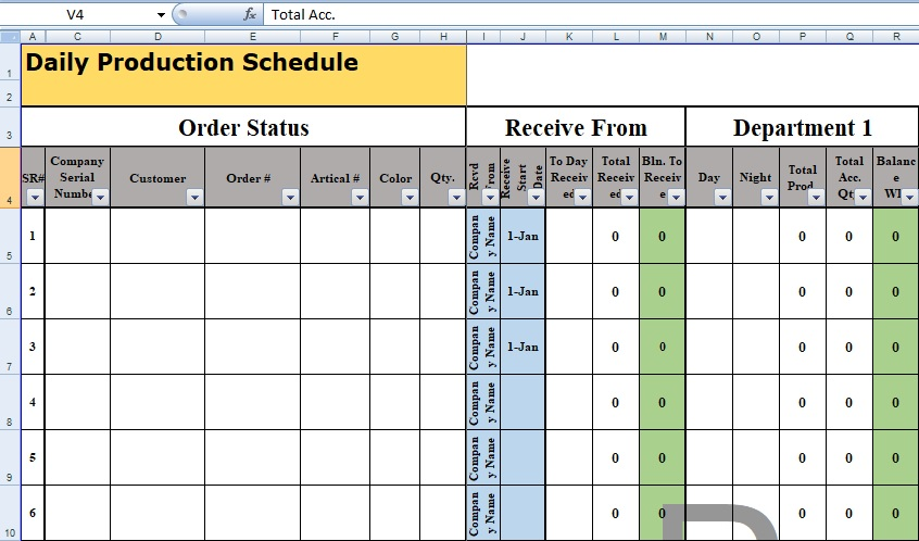 daily timetable template excel
