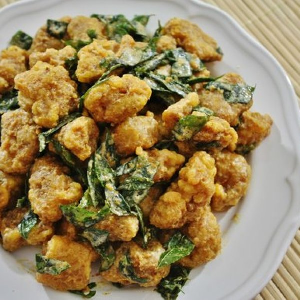 Fried Chicken with Salted Egg Yolk Recipe