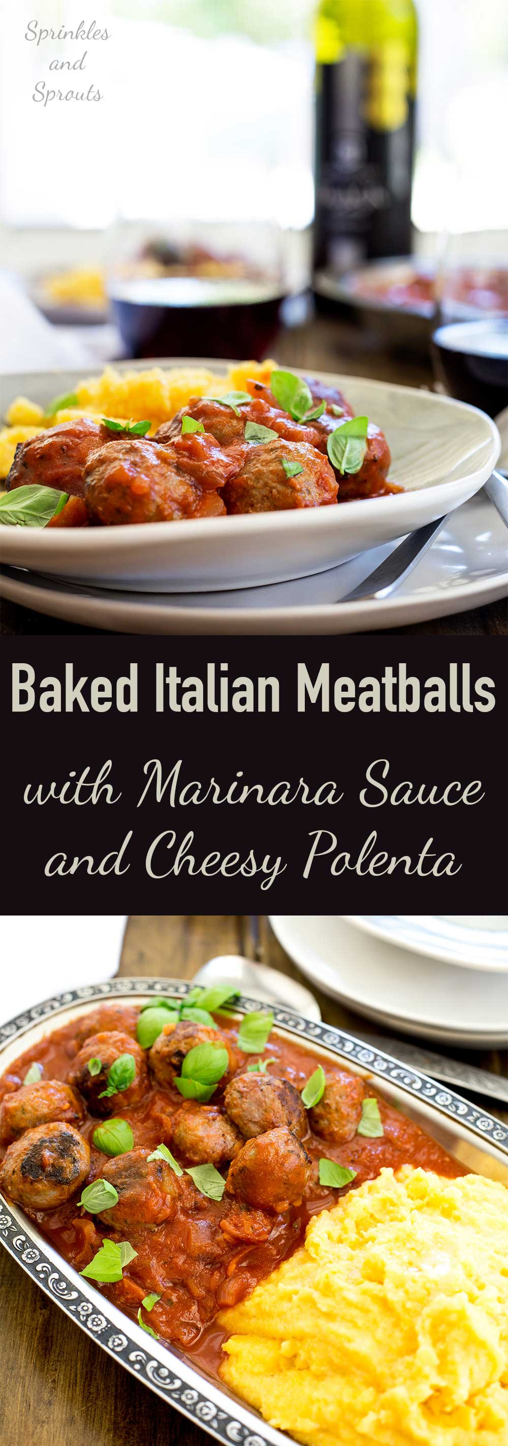 Polenta with Meatballs and Tomato Sauce