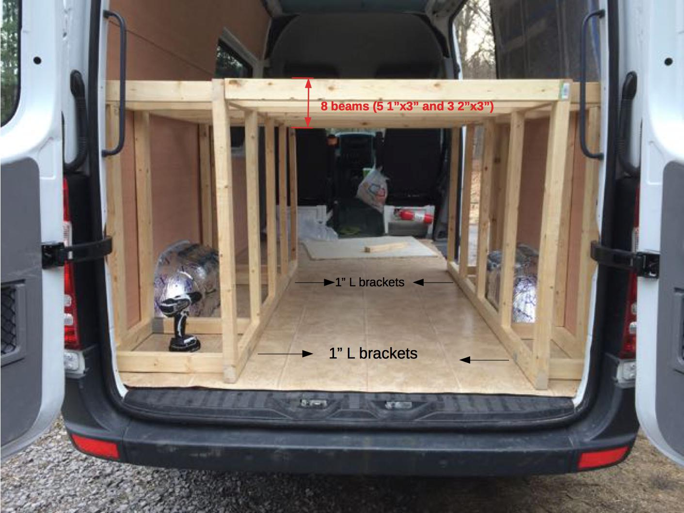 Sprinter Van Bunk Beds >> Bed Frame Construction – Sprinter Van Diaries