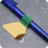 Pen holders, with flat elastic loop, self-adhesive, green ...