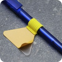 Pen holders, with flat elastic loop, self-adhesive, yellow ...