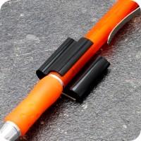 Pen holders, 20 x 25 mm, self-adhesive, black