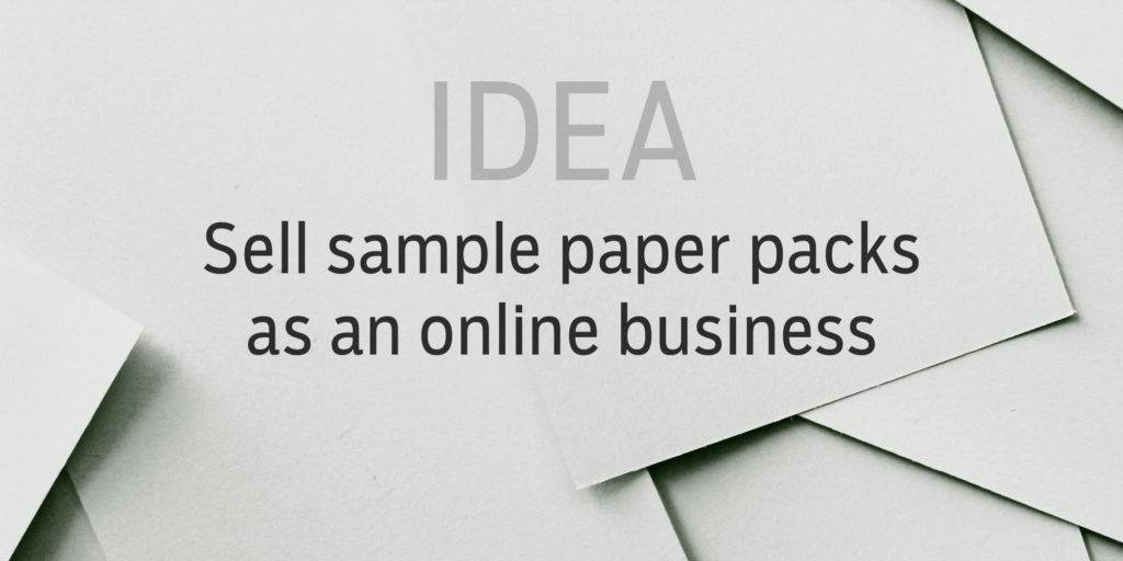 Idea Selling sample paper packs on Amazon - Spudart - sample white paper