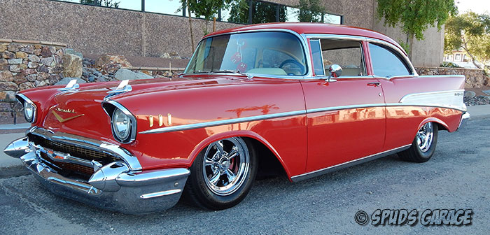 Spud\u0027s Garage - 1957 Chevy Belair - For Sale