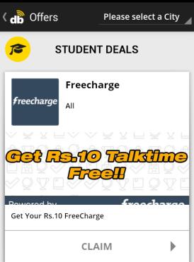 Dabblr 10 Rs freecharge coupon