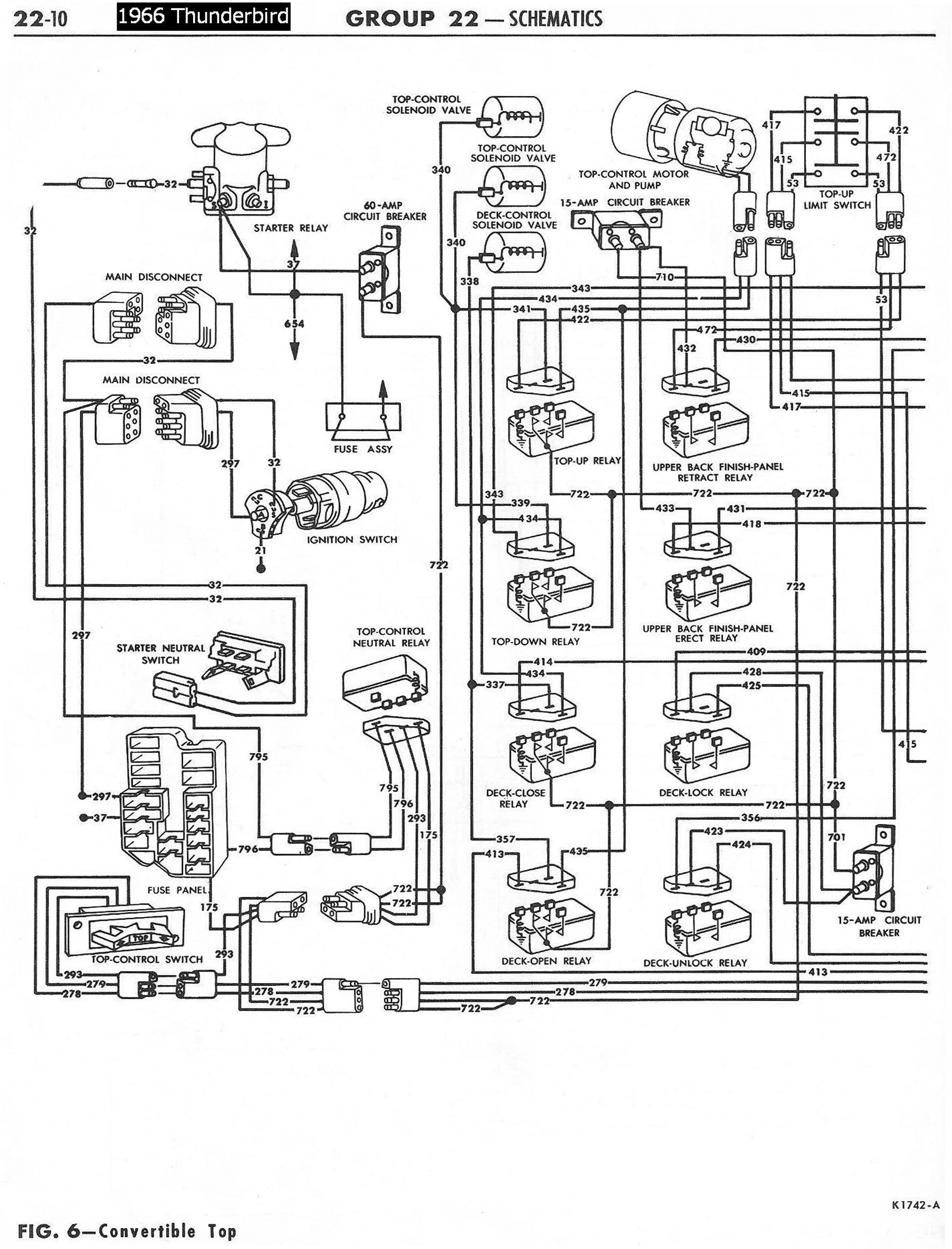1966 ford thunderbird convertible top wiring diagram