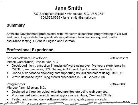Free Resume Examples with Resume Tips - Squawkfox - free sample of a resume