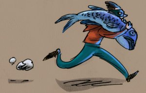 005 - fish fleeing