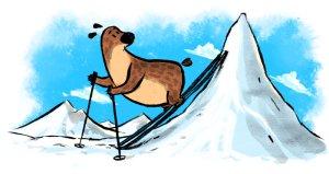 The Great Big Bear Goes Skiing