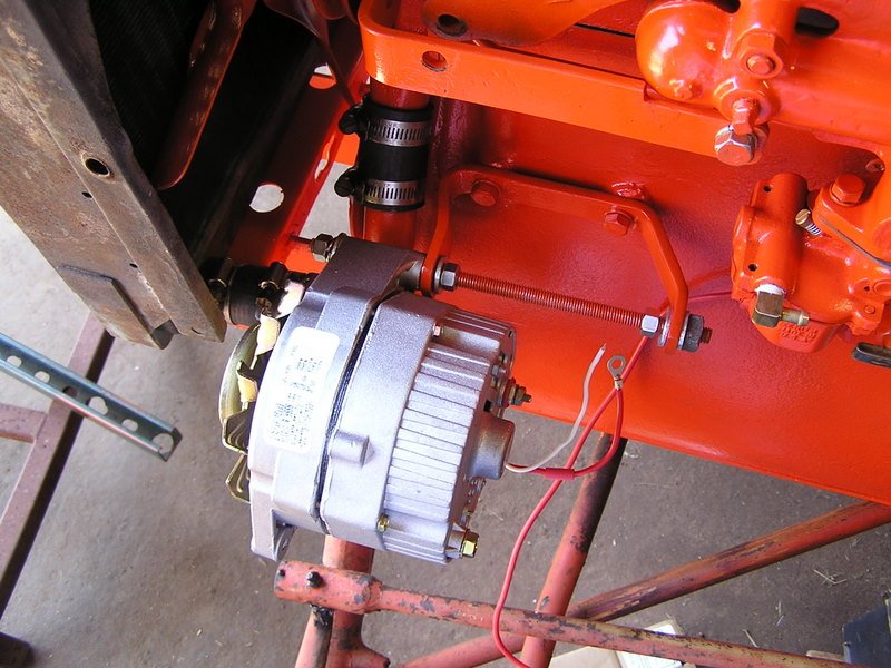 Squid\u0027s Fab Shop Allis Chalmers B Alternator Conversion