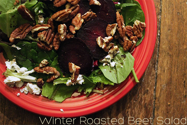 Winter Roasted Beet Salad from Squirrelly Minds