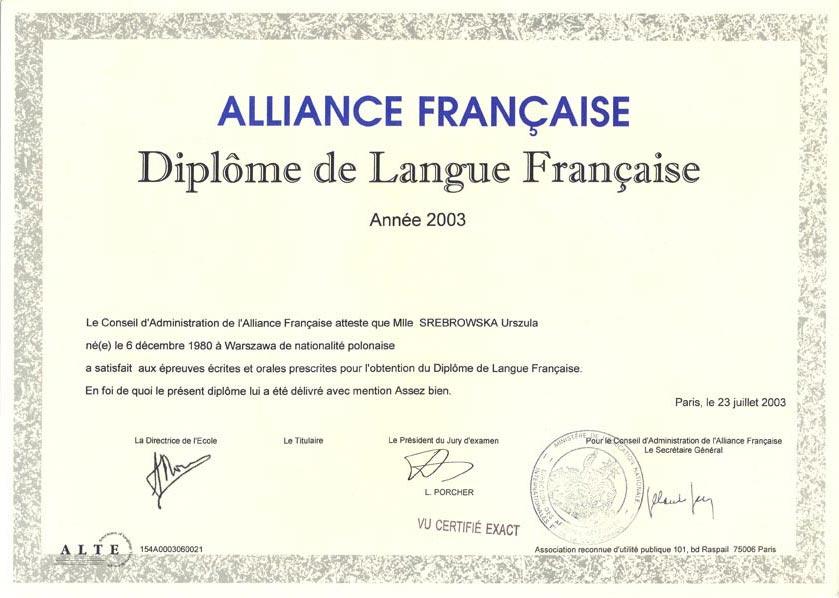 diplome en langues cv