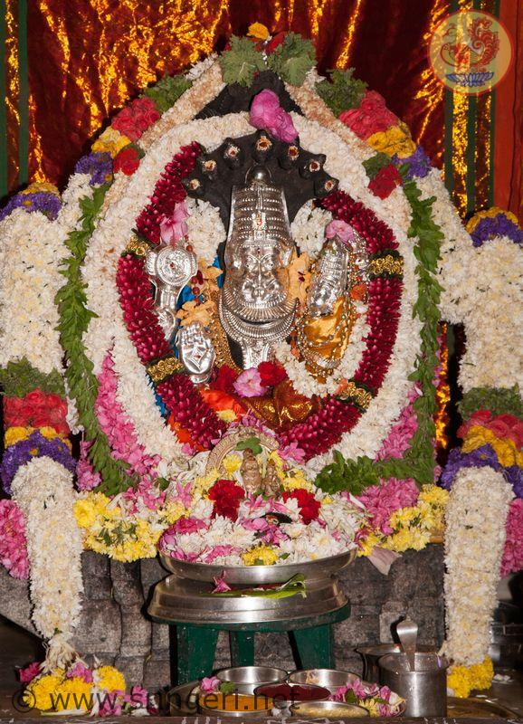 Sri Venkateswara Swamy Hd Wallpapers Narasimha Jayanti And Abhisheka To Goddess Sharadamba