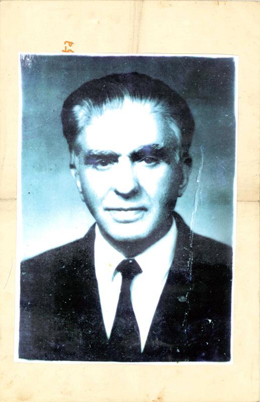Љубомир Т. Петровић у пензији. Фотографија направљена после другог светског рата.