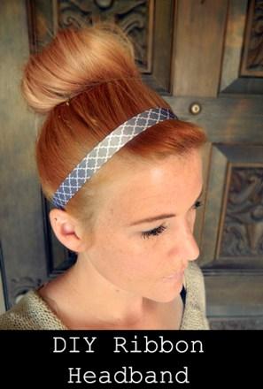 diy ribbonheadband
