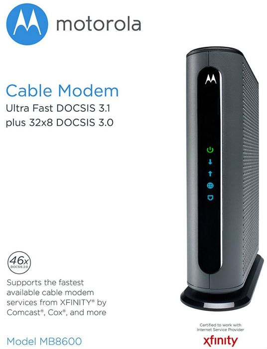 Refurbished Motorola MB8600 DOCSIS 31 Ultra Fast Cable Modem 1 Gbps