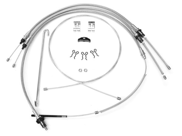 1975-1979 Nova Parking Brake Cable Kit, Stainless Steel