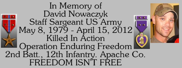SSG David Nowaczyk Memorial Fund