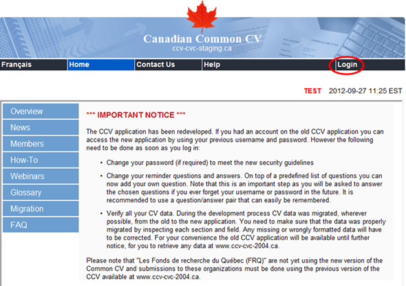 How to Use the Canadian Common CV (CCV)