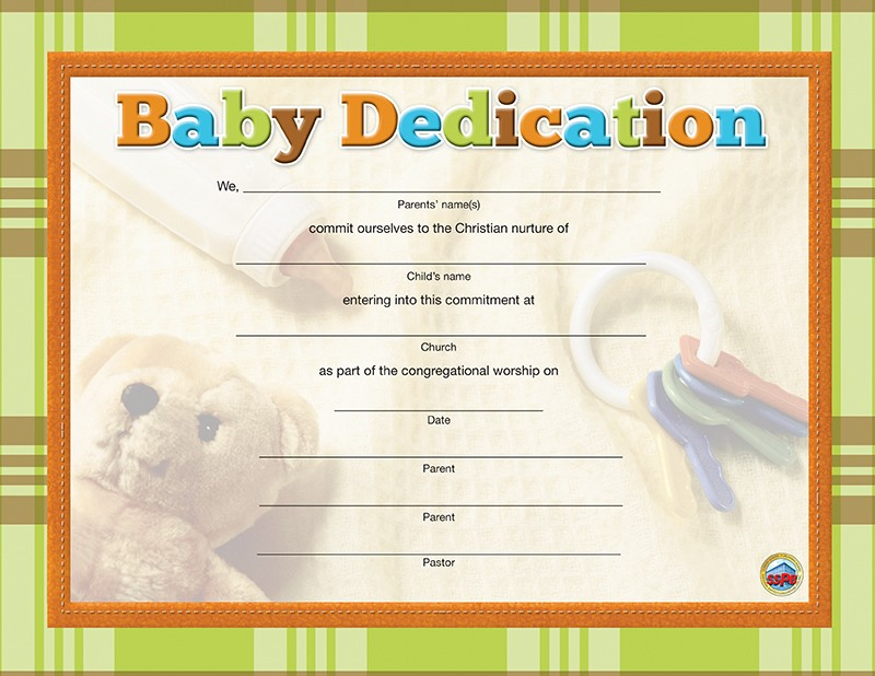 Ministry Resources Sunday School Publishing Board - baby dedication certificates templates