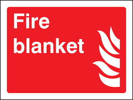 Fire Blanket Sign Ssp Print Factory