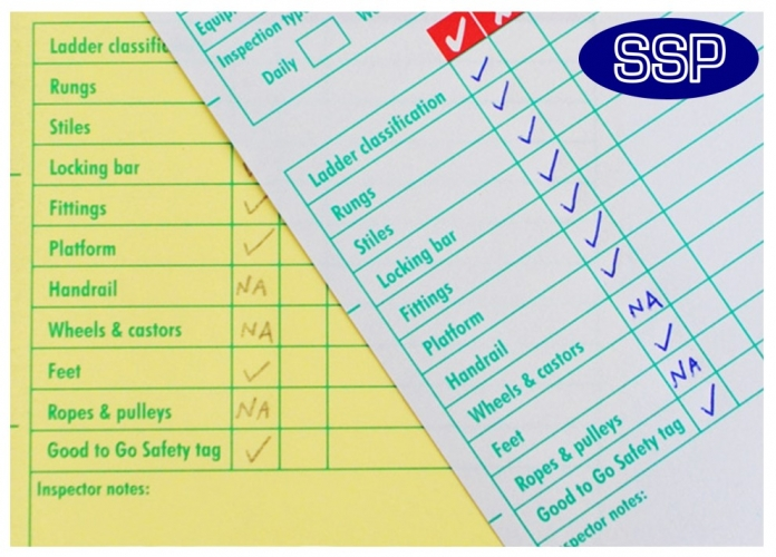 Ladder Safety Inspection Systems 275 Inspections Ssp