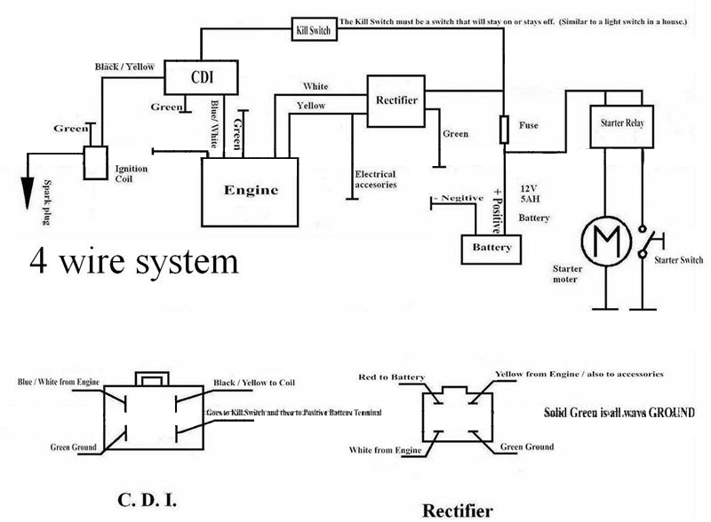 4 wire atv voltage regulator wiring diagram