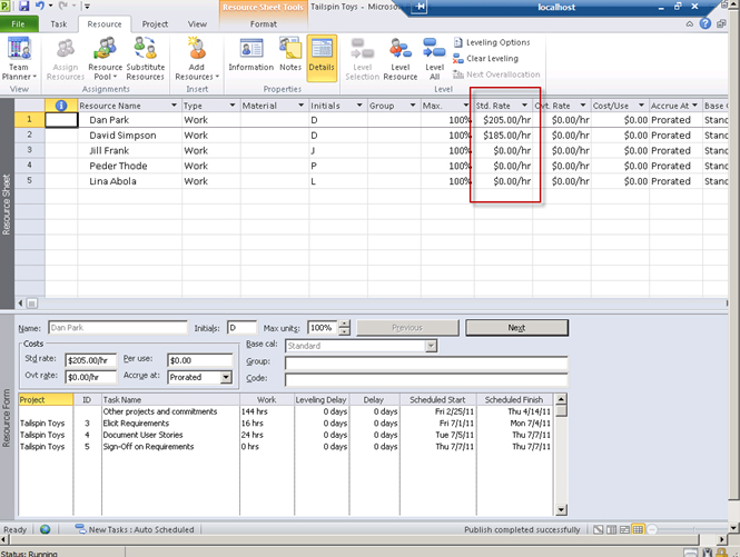 Microsoft Project Suggestions (the rich client like Excel)