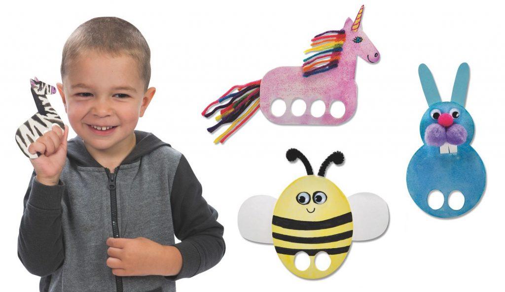 Animal Finger Puppets - Easy Craft for Kids - SS Blog