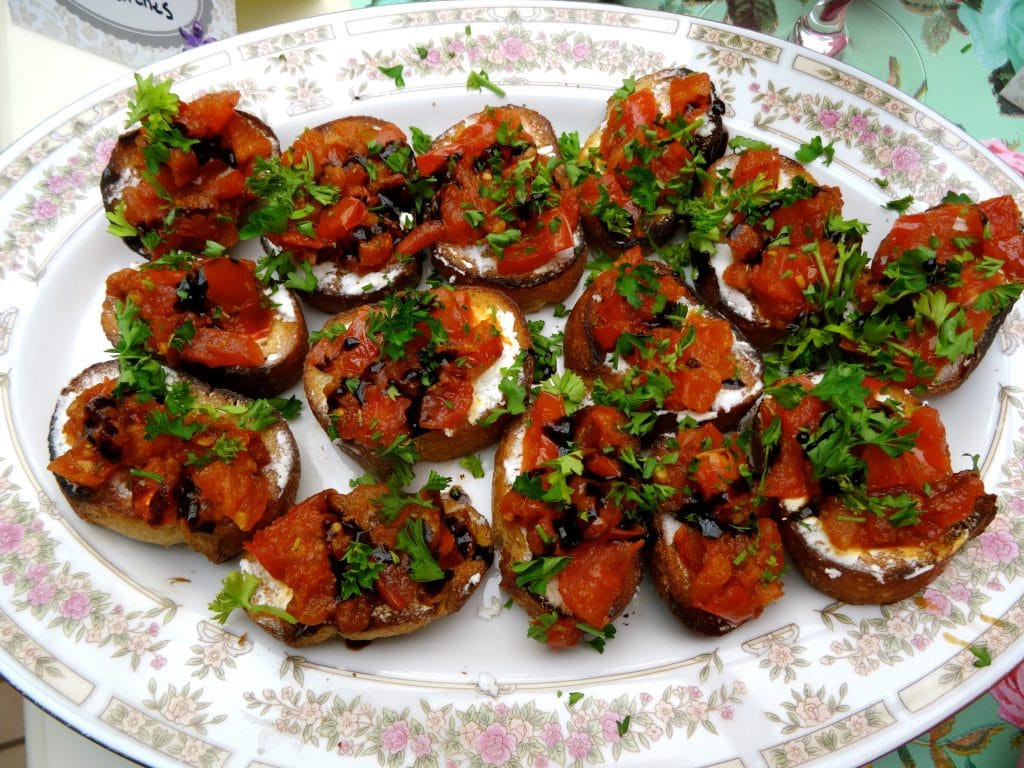 Grilled Tomato Crostini with a Balsamic Glaze - Stacey Homemaker