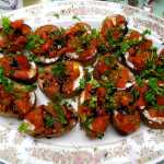 Grilled Tomato Crostini with a Balsamic Glaze