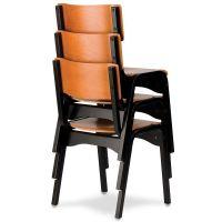 Carlo Armless Chair Wood Seat CARLO-STACKING-CHAIR ...