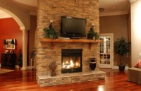Stacked Stone Fireplace - The Modern Fireplace Ideas For ...