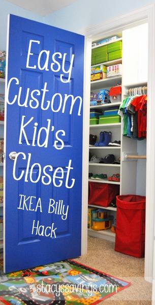 Easy Custom Kid'S Closet – An Ikea Billy Hack
