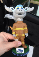 Bullwinkle Firefighter Bobblehead - Willmington Bluerocks - Kansas City Royals
