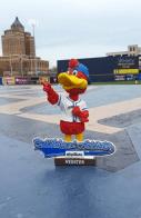 akron ruber docks mascot bobblehead - cleveland indians (2)